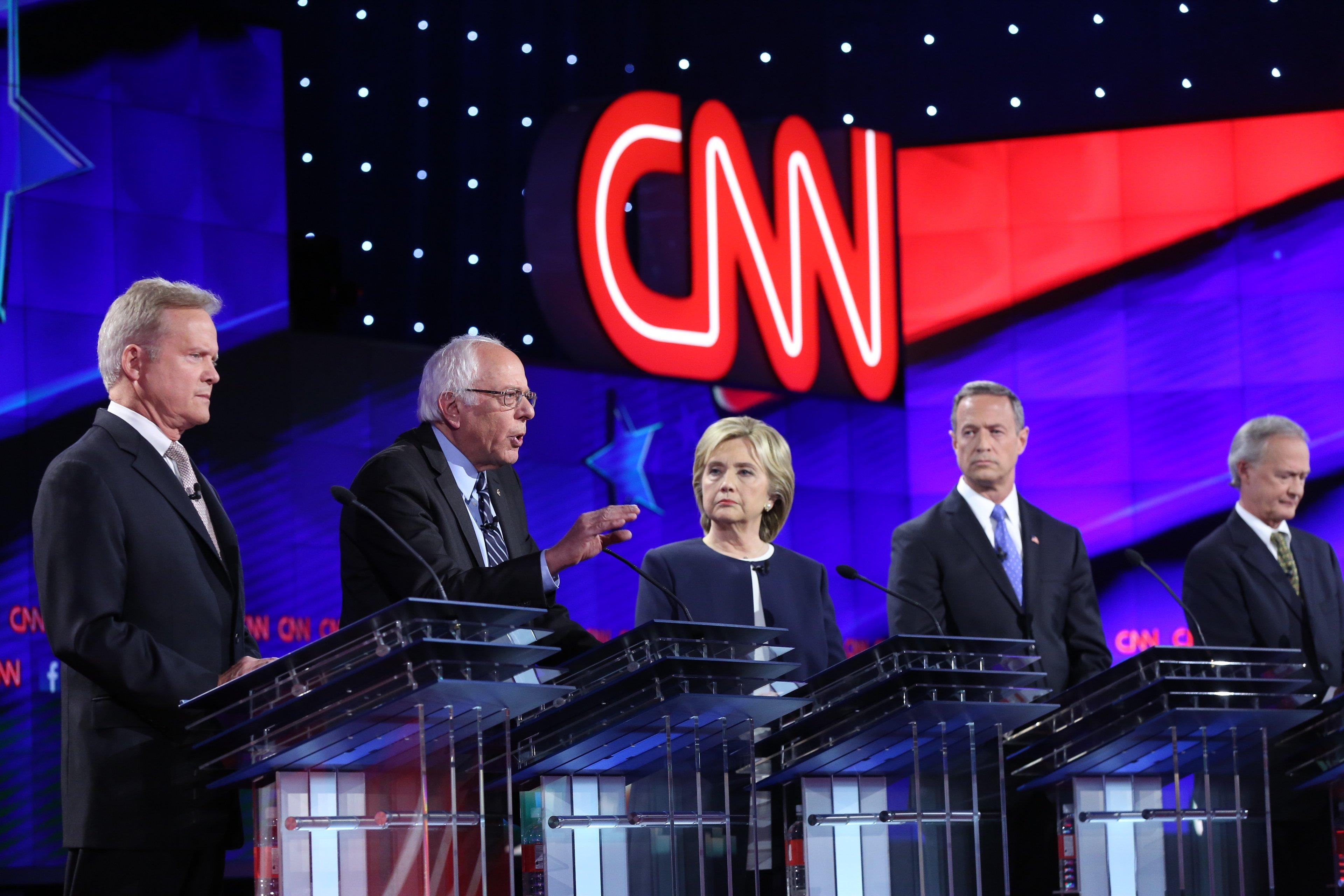 durante il dibattito tv tra i candidati democratici USA 2016