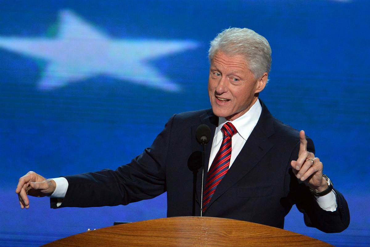public speaking linguaggio del corpo bill clinton