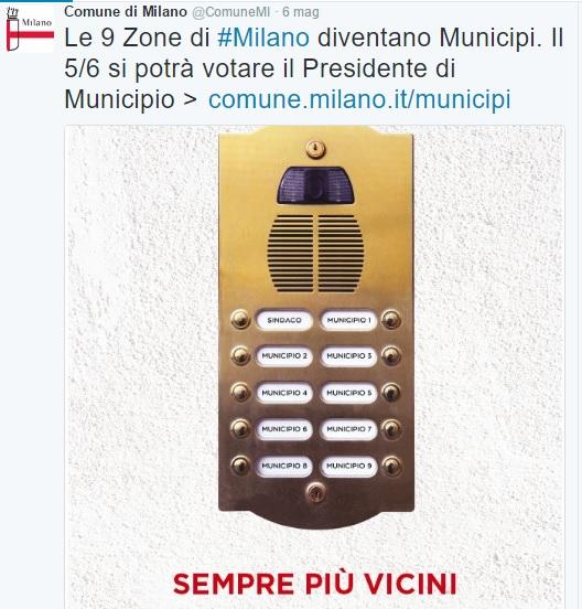 PA social municipi a milano